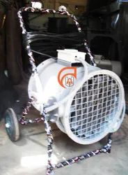 Portable Hot Air Fan Trolley Type