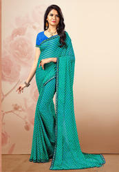15a1cfa8e0 Pure Chiffon Digital Printed Party Wear Designed Saree, Length: 6.3 m