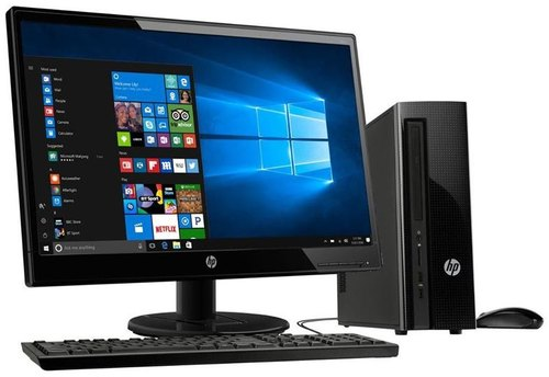 "Dos i3 HP Desktop 290-A0007IL, Intel, Screen Size: 19"""