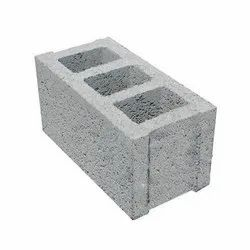 Rectangular Grey Cement Hollow Brick, for Partition Walls