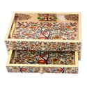 Enamel Print Drawer With Tray Item Home Decor