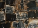 Petrified Black Retro Gemstone Slab