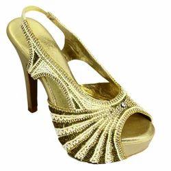 ff215976869 Golden Bridal Heel Sandals