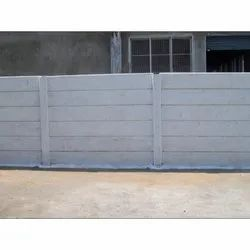 Grey Concrete Compound Wall