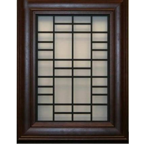 Brown Rectangular Designer Wooden Window Grill, Rs 2000