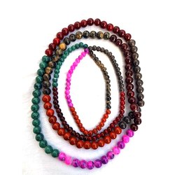 Round Colored Fancy Glass Beads