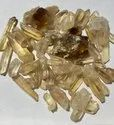 Lot Yellow Scapolite Crystals - Natural Scapolite Gemstones, Raw Crystal,
