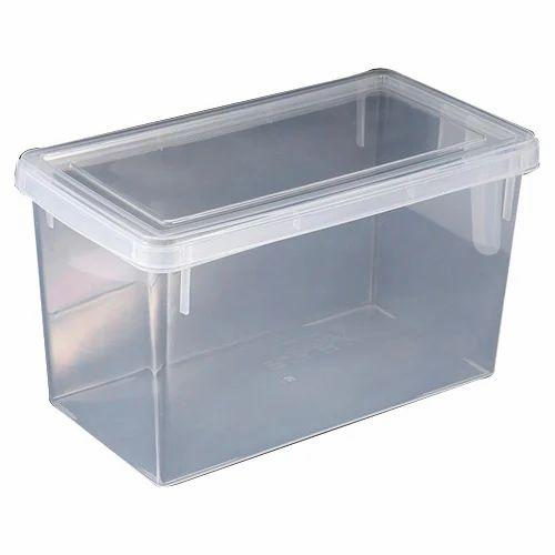 Plastic Rectangular Transparent Storage Container Capacity 2kg Rs