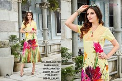 Rachna Linen Digital Printed Work Floraine Catalog Kurti For Women