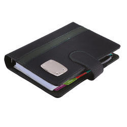Leatherite Black Green Business Organizer