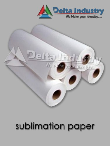 White Heat Transfer Sublimation Paper Roll, Packaging Type: Box, Gsm: 75 To 100
