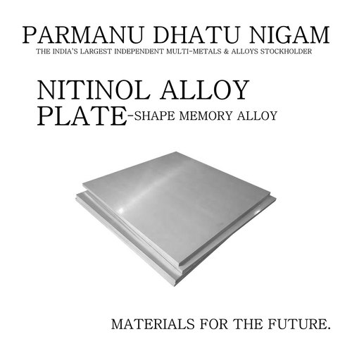 Nitinol Alloy Plate - Shape Memory Alloy Plate, अलॉय स्टील ...