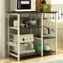 Microwave Oven Stand Kitchen Rack Organiser 3 x 3 Kitchen Utility Cutlery Storage Rack
