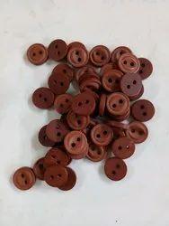 Plastic Round Brown Garment Button, For Garments