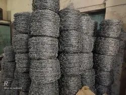 Silver Galvanized Iron Barbed Wire, For Fencing