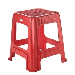 Square Plastic Stool-Medium