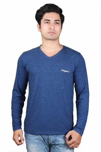 81e42272701 Finger's Men's Lycra Full Sleeves T Shirt for Summer at Rs 220 ...