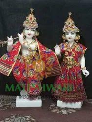 marble iskcon radha krishna moorti