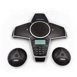 Conference Speaker with Extension Mics PeopleLink Quadro