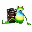 Metal Yoga Frog With Pan Key Holder