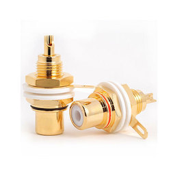 RCA Socket Gold Plated Panel Mount