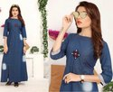 Denim Long Kurti