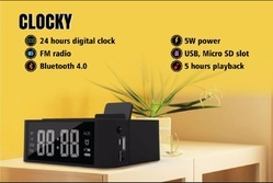 Bluetooth Speaker with Clock and Mobile Stand