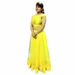Stitched Festive Wear Chanderi Silk Lehenga Choli