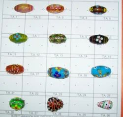 Collectible Fancy Mix Aventunine Glass Trade Beads