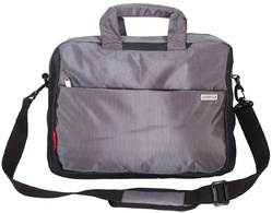 Grey Laptop Messenger Bag