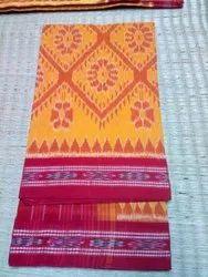 Casual Wear Printed Ladies Khandua Cotton Saree, Without blouse piece, 5.5 Meter