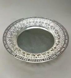 Round Cutwork Silver Platter TR1028