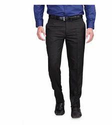 Rg Designers  Black Slim Fit Men's Formal Trousers Dn6400
