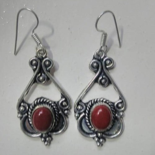 brown store jasper impression earrings