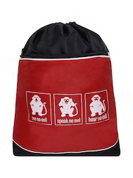 Printed Red Backpack Bag