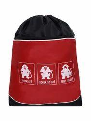 Printed Red Backpack Bag