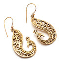 Cursive Style Pretty Hot New Brass Earring Peacock Style Hottest Indianna Jewellers Model