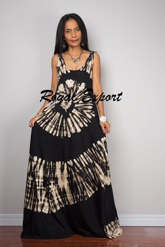 503192fa68 Cotton Party Wear Shibori Design Beach Long Dress, Rs 540 /piece ...