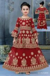 Kids Heavy Trail Lacha Lehenga for Girls