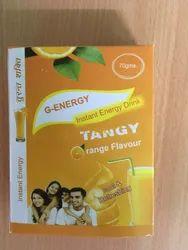 G-Energy Orange Instant Energy Drink Powder, Packaging Size: 70gm, Packaging Type: Box