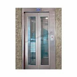 Stainless Steel Glass Automatic Elevator Doors, Collapsible