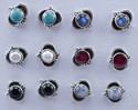 Ruby Gemstone Designer Jewelry 925 Silver Stud Earring