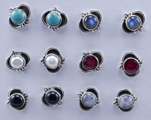 Silver Jewelry Doctor Red Ruby Gemstone Designer 925 Stud Earring Size 5