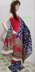 Printed Trends And Rivaaz Ethnic Kalamkari Unstitched Cotton Suit-2, Handwash