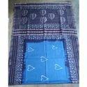 Ladies Purple Cotton Designer Batique Saree, Length: 6.3 m