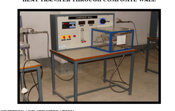 Labbazaar Copper HEAT TRANSFER THROUGH COMPOSITE WALL, For College Laboratory, Water