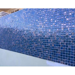 Marble Swimming Pool Glass Mosaic Tiles, Size: Large (12 Inch X 12 Inch), Thickness: 5-10 mm