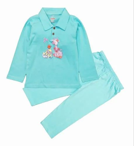 Baby Boy's Full Sleeve T-Shirt With Button & Pant
