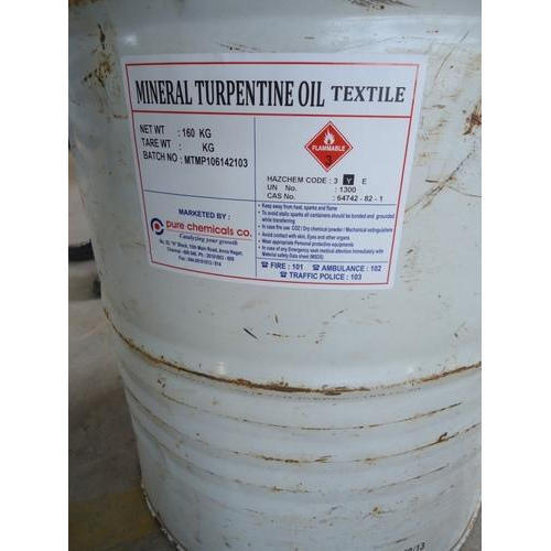 Mineral Turpentine Oil Packaging Type Drum Rs 98 Kilogram Pure Chemicals Co Id 5004052873
