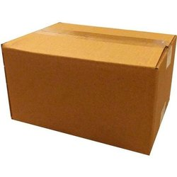 Brown Corrugated paper Plain Packaging Boxes, Ply: 5